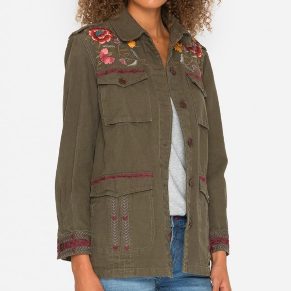 Johnny Was Jackets & Blazers - NEW Johnny Was Bonnie drawstring military jacket